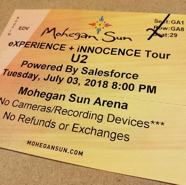Throwback Concert: U2 at Mohegan Sun Arena 2018