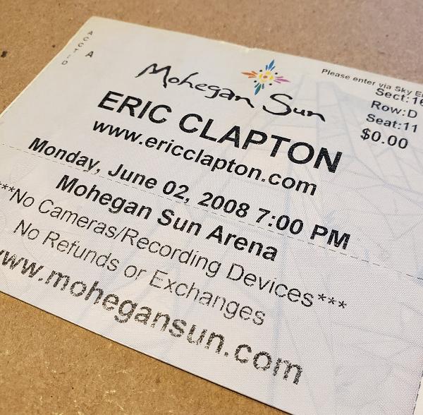 Throwback Concert: Eric Clapton at Mohegan Sun Arena 2008