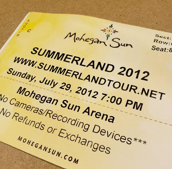 Throwback Concert: Summerland Tour at Mohegan Sun Arena 2012
