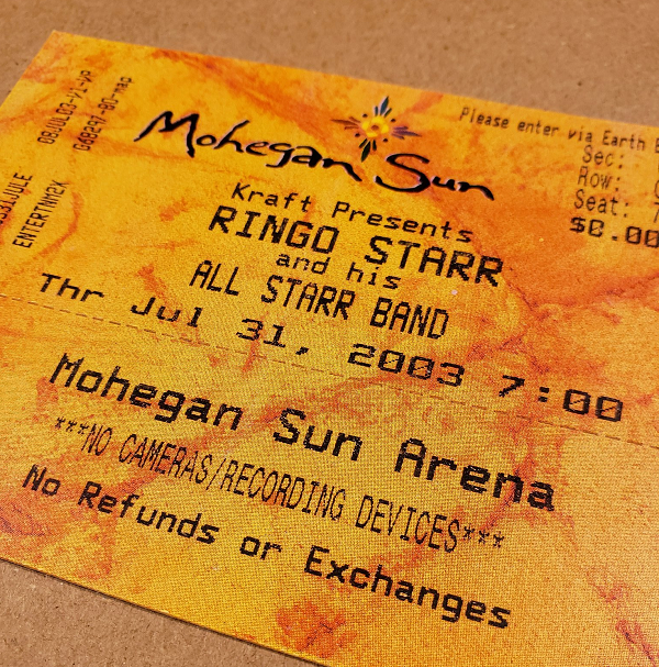 Throwback Concert: Ringo Starr at Mohegan Sun Arena 2003