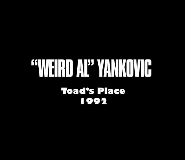 """Throwback Concert: """"Weird Al"""" Yankovic at Toad's Place 1992"""