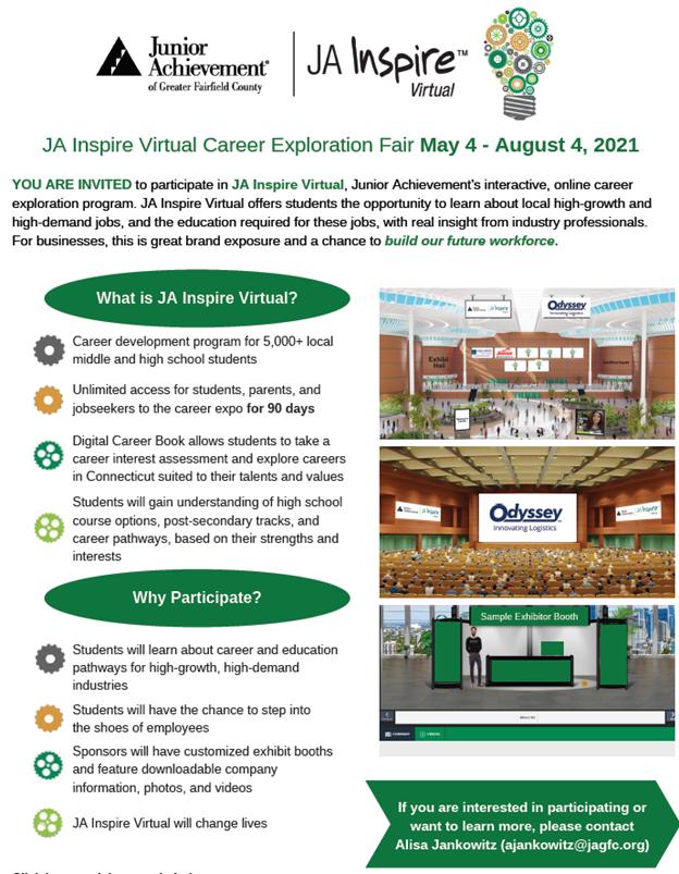 JA Inspire Virtual Career Exploration Fair
