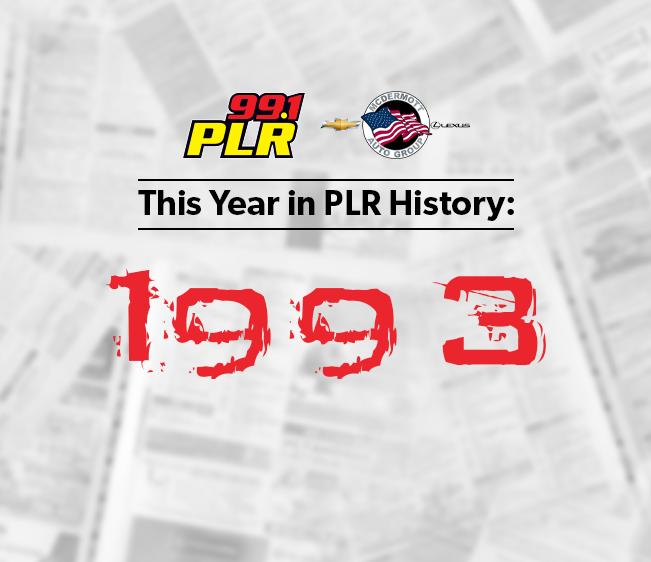 99.1 PLR McDermott Chevrolet & Lexus This Year in PLR History: 1993