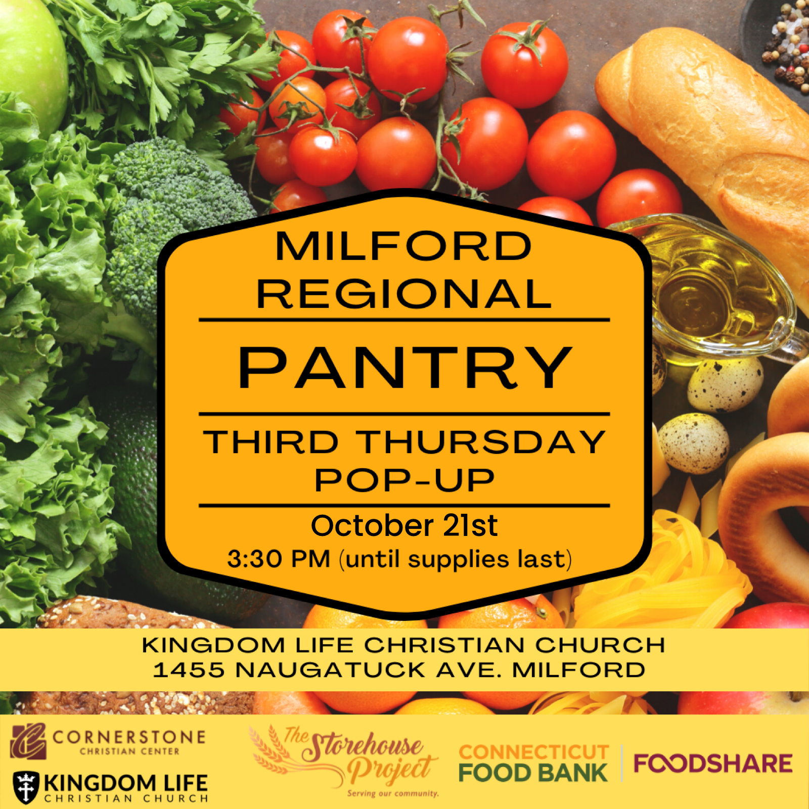 Milford Regional Pantry Third Thursday Pop Up October