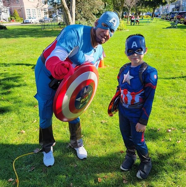 Photos: AJ as Captain America for Make-A-Wish