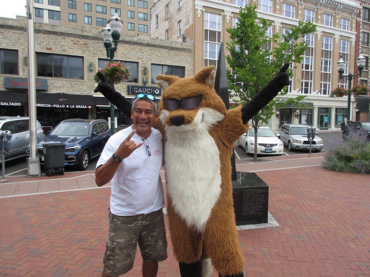 Spot the Fox in Stamford 8/7/19