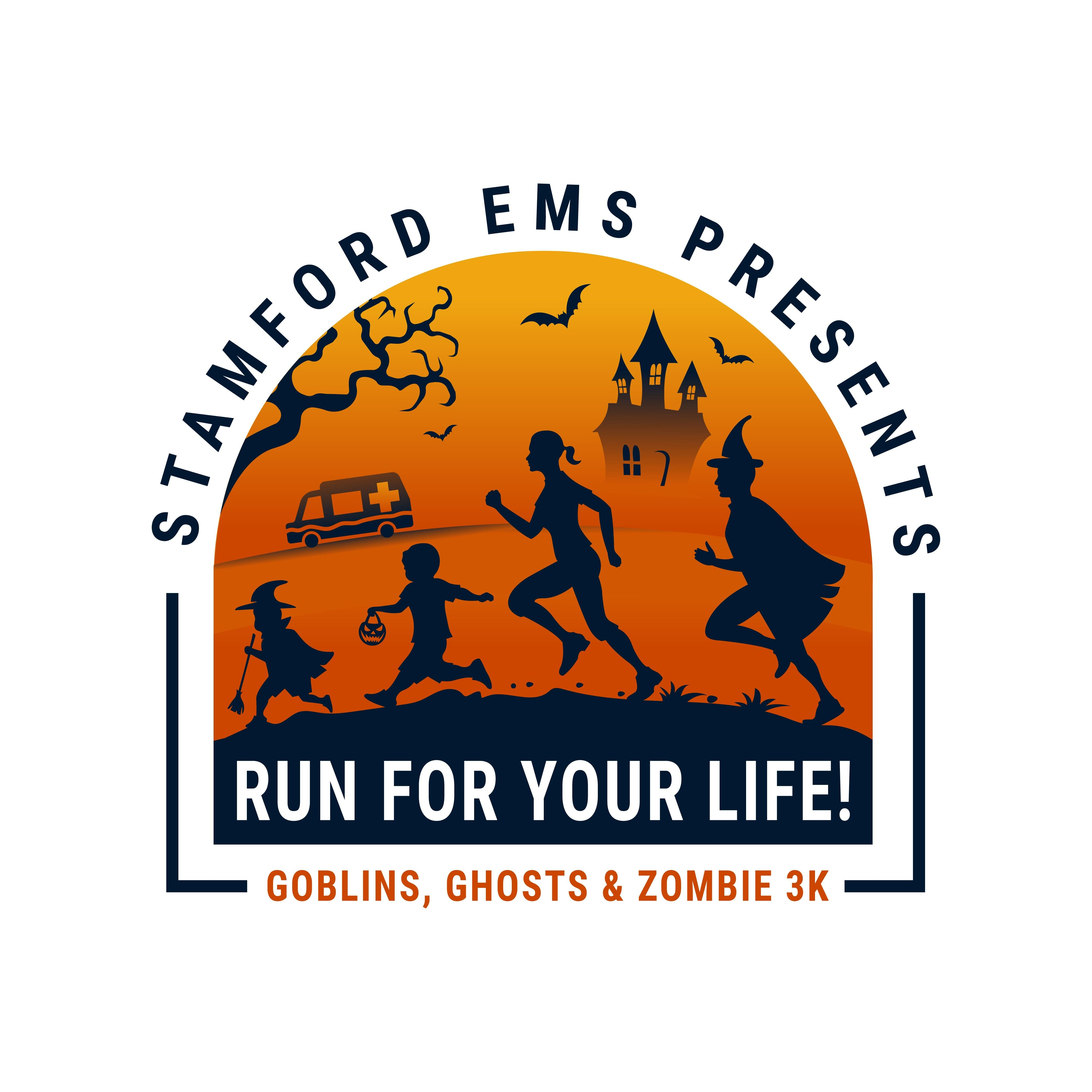 Stamford EMS Run For Your Life Goblins, Ghosts & Zombie 3K