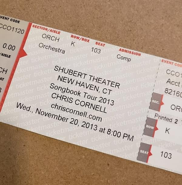 Throwback Concert: Chris Cornell at Shubert Theater 2013