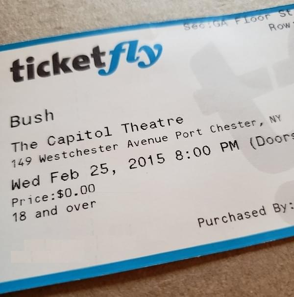 Throwback Concert: Bush at The Capitol Theatre 2015