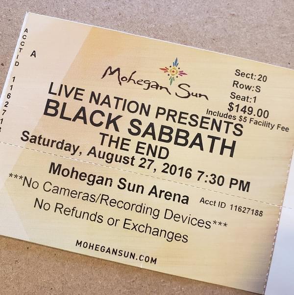 Throwback Concert: Black Sabbath at Mohegan Sun Arena 2016