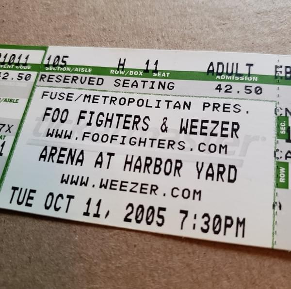 Throwback Concert: Foo Fighters & Weezer at Arena at Harbor Yard 2005