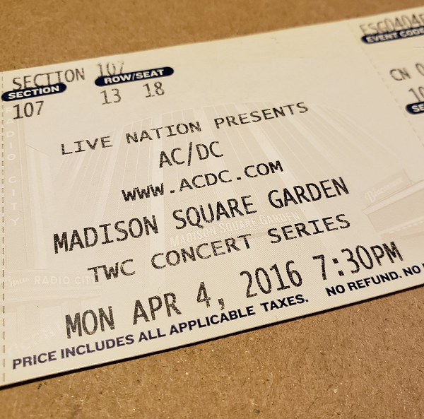 Throwback Concert: AC/DC at Madison Square Garden 2016