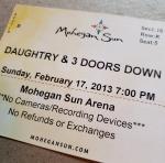Throwback Concert: Daughtry & 3 Doors Down at Mohegan Sun 2013