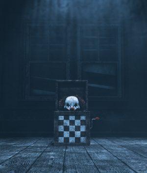 Haunted toys,3d illustration