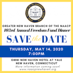 Greater New Haven Branch of the NAACP 103rd Annual Freedom Fund Dinner