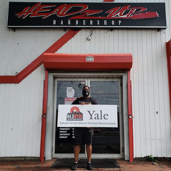 WYBC & Yale salute HeadzUp Barbershop