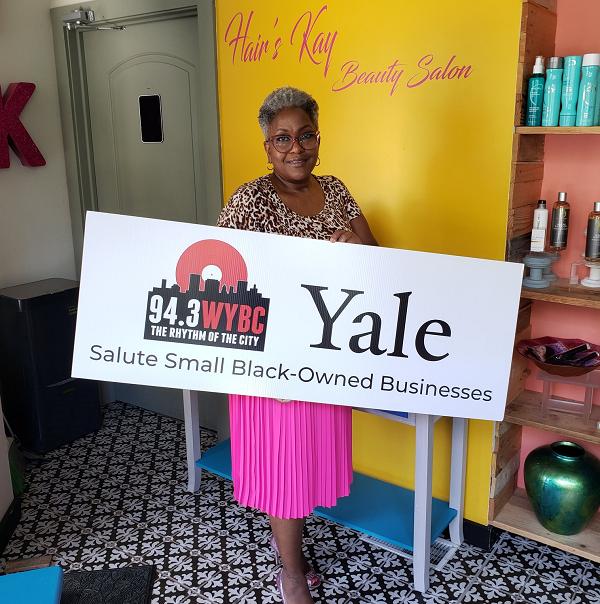 WYBC & Yale salute Hair's Kay Salon