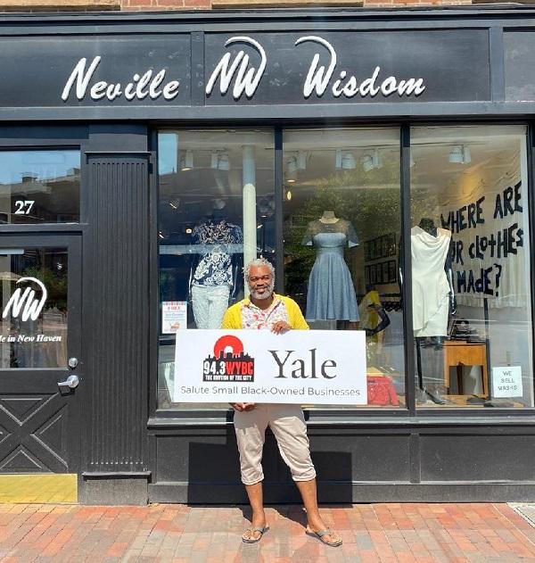 WYBC & Yale University salute Neville Wisdom Fashions