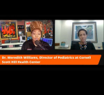Wanda Coppage talks with Dr. Meredith Williams