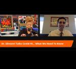 Wanda Coppage talks with Dr. Silvestri