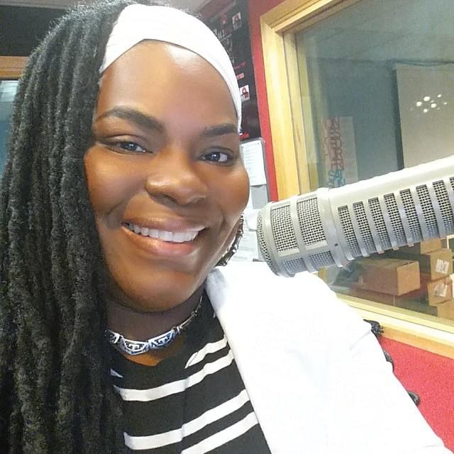 Banesha B. Broadcasting from the WYBC Stone Academy Studio
