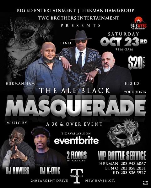 The All Black Masquerade
