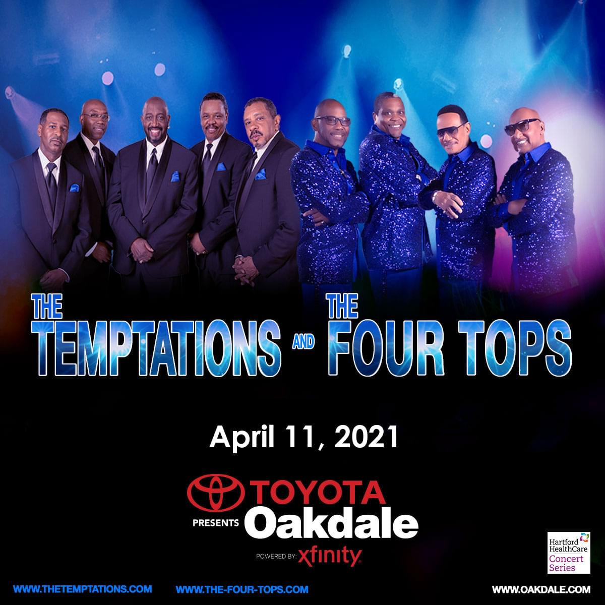 Enter to win tickets to The Temptations & The Four Tops A Night of Solid Gold Hits