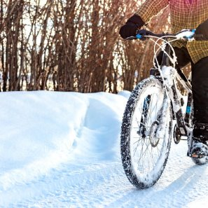 Morning Hack 1/17/2020 Bicycle on snow! (carefully)