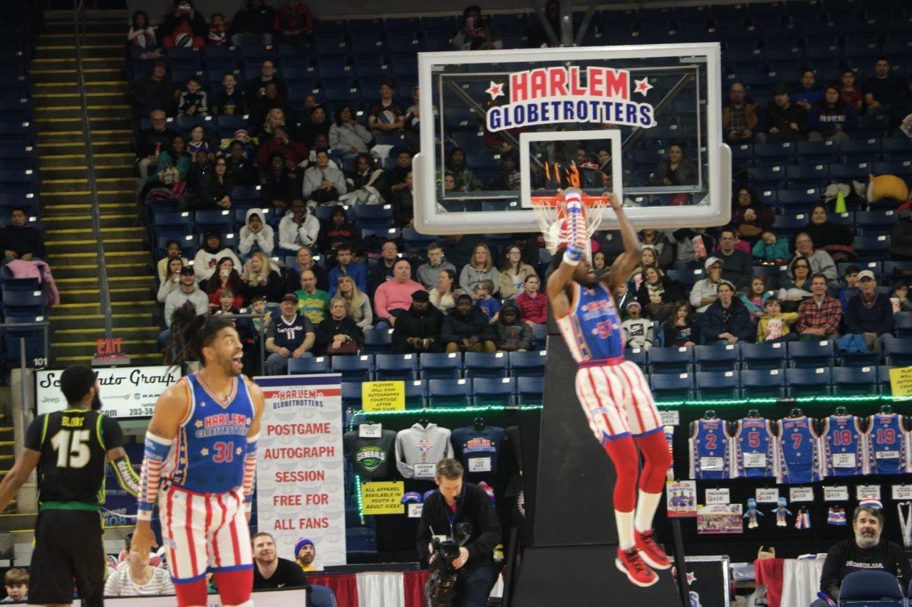 Globetrotters at the Webster Bank Arena