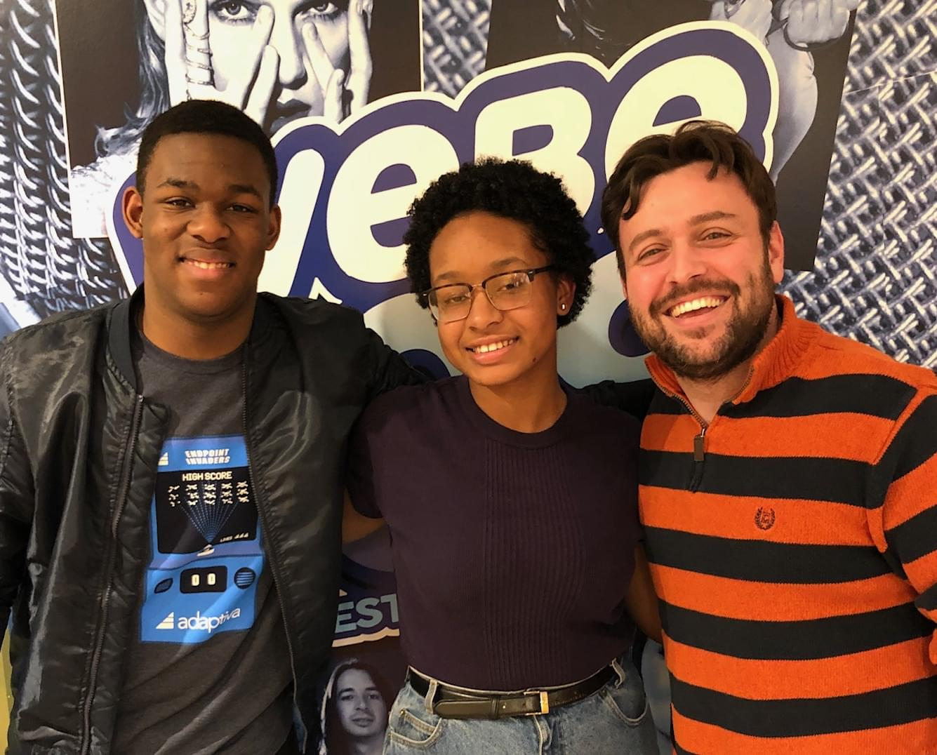 RCA Students Deborah And Kevin Stop By WEBE108!