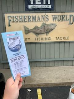 WEBE108 Storm N. Norman with Rick Mola of Fisherman's World in Norwalk!