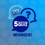 5 Question Quiz winner!