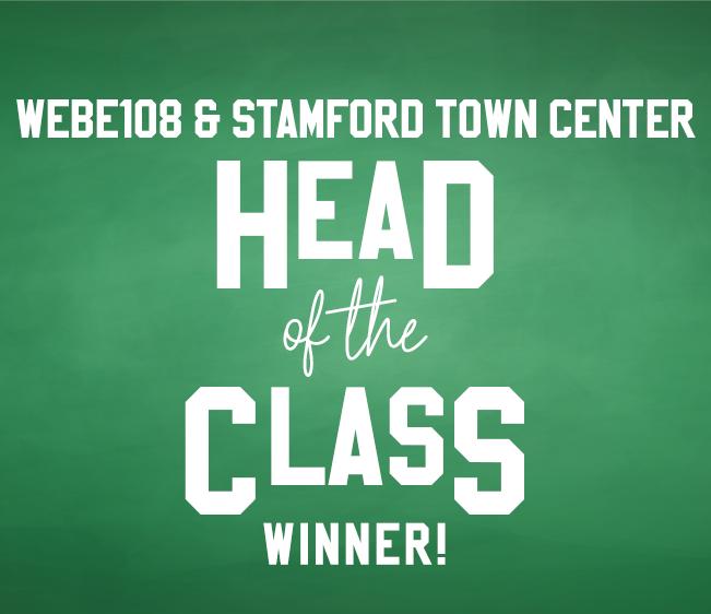 WEBE108 Stamford Town Center Head of the Class Winner!