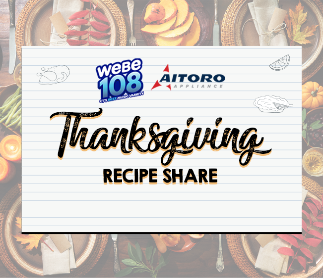 WEBE108 Aitoro Appliance Thanksgiving Recipe Share Grand Prize Winner!