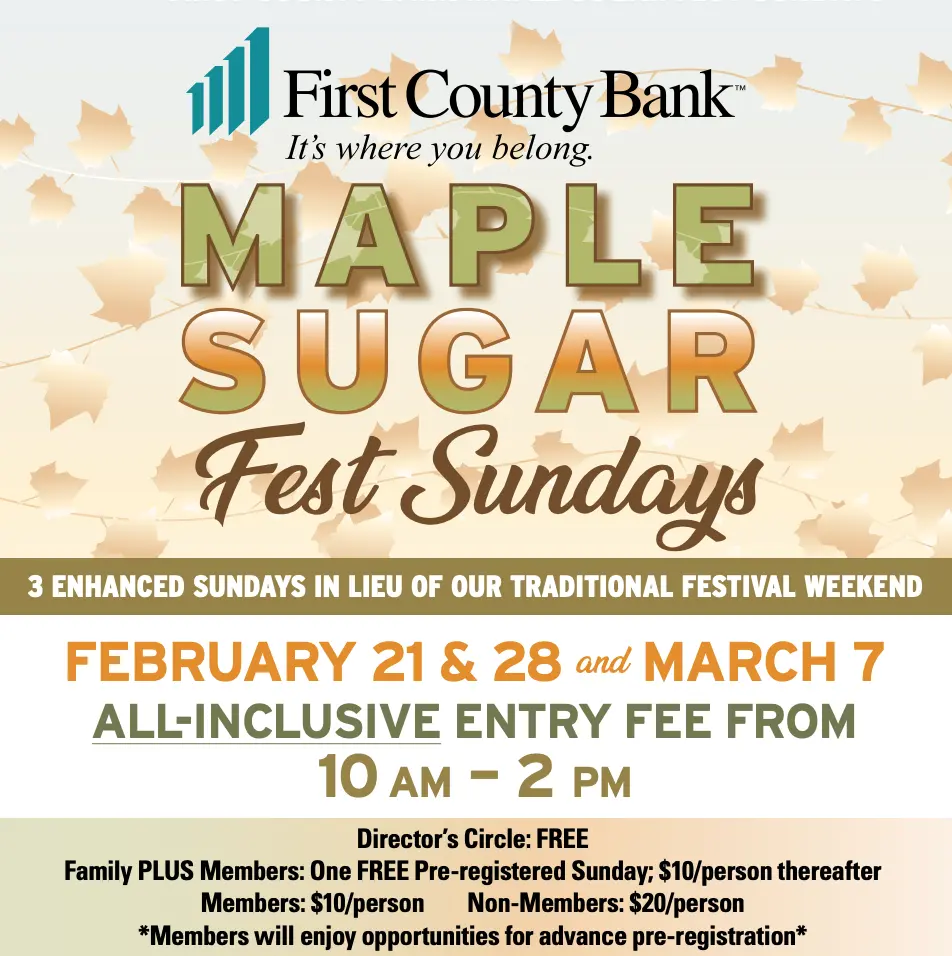 Maple Sugars Sundays at SM&NC