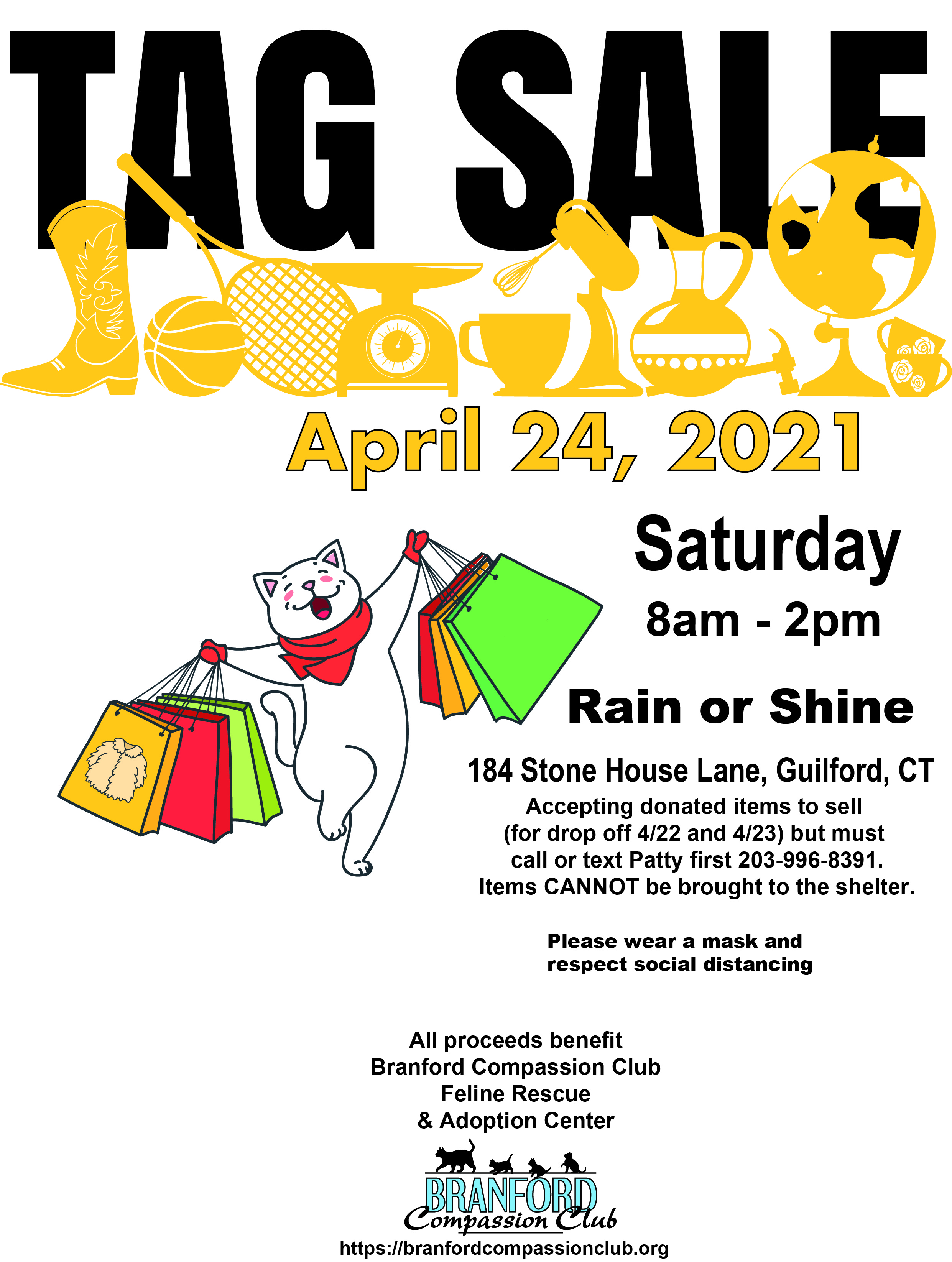 Branford Compassion Club Feline Rescue & Adoption Center Tag Sale