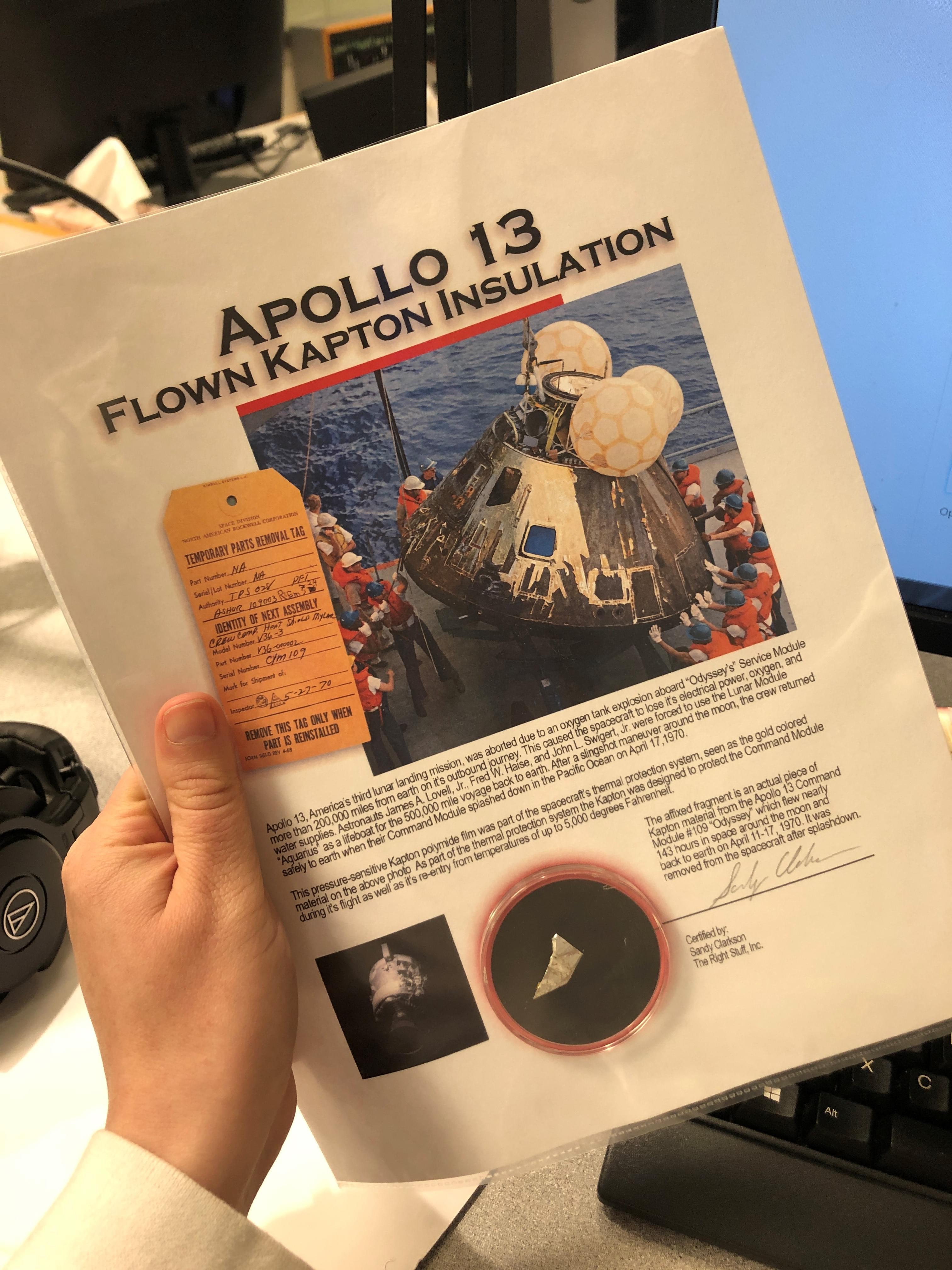 Tony & Melissa: Remembering Apollo 13