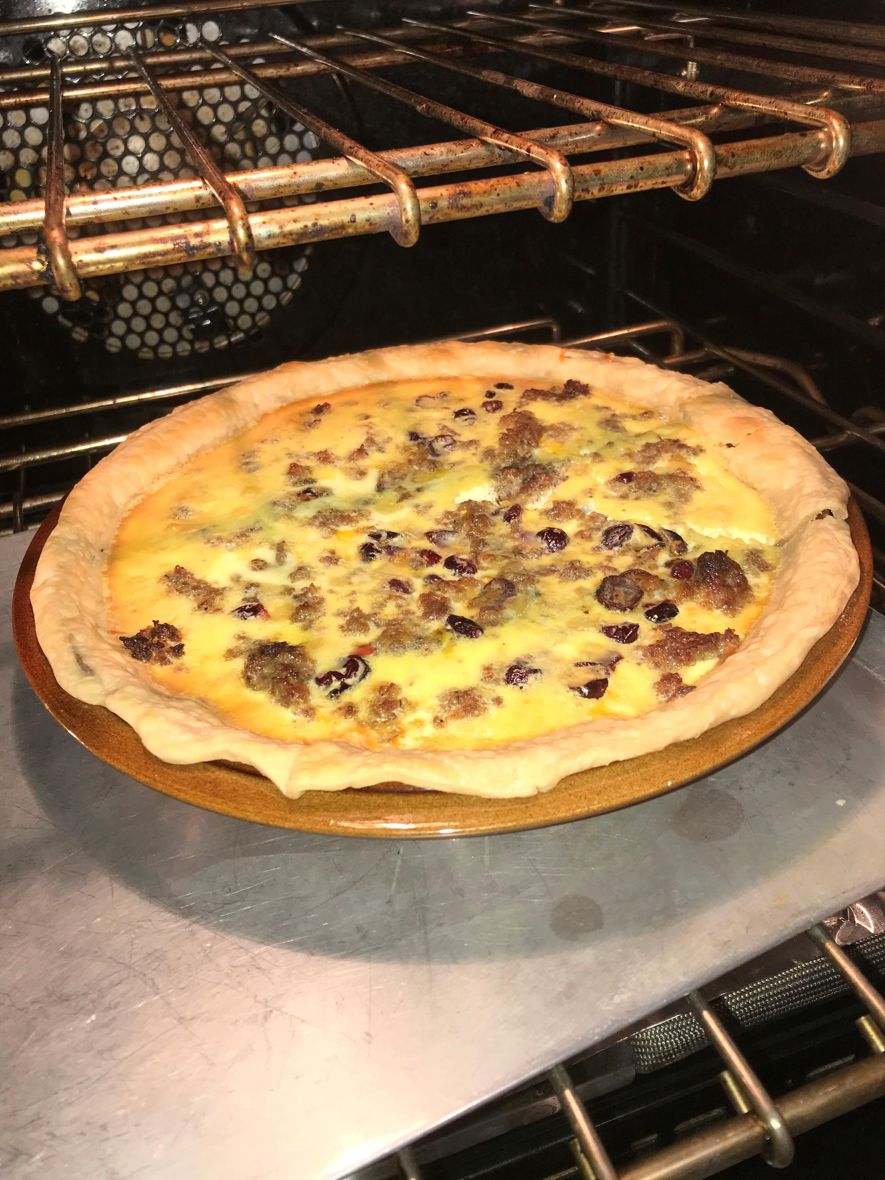 Cooking with Claud: Sausage and Cranberry Quiche