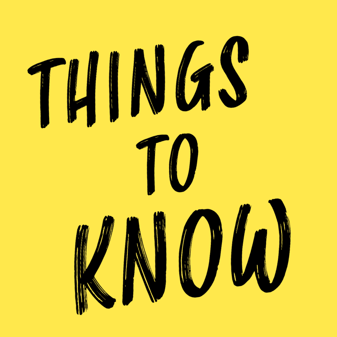 Things to Know Wednesday September 9th