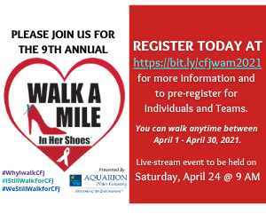 Center for Family Justice Walk a Mile in Her Shoes