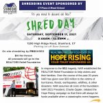 SBOR Shred Day ~ Saturday, September 11th from 9am to 12pm