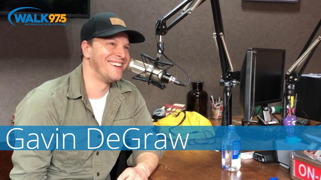 Gavin DeGraw chats with Christina Kay at The Studio!
