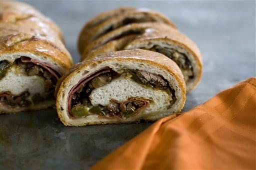 Food Super Bowl Stromboli