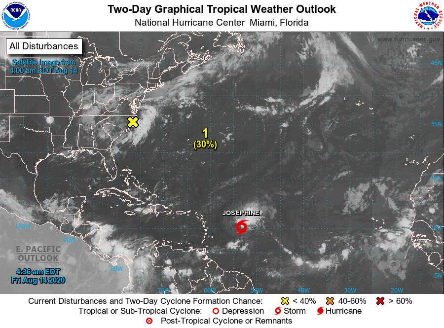 Tropical Storm Josephine has formed in the Atlantic Ocean