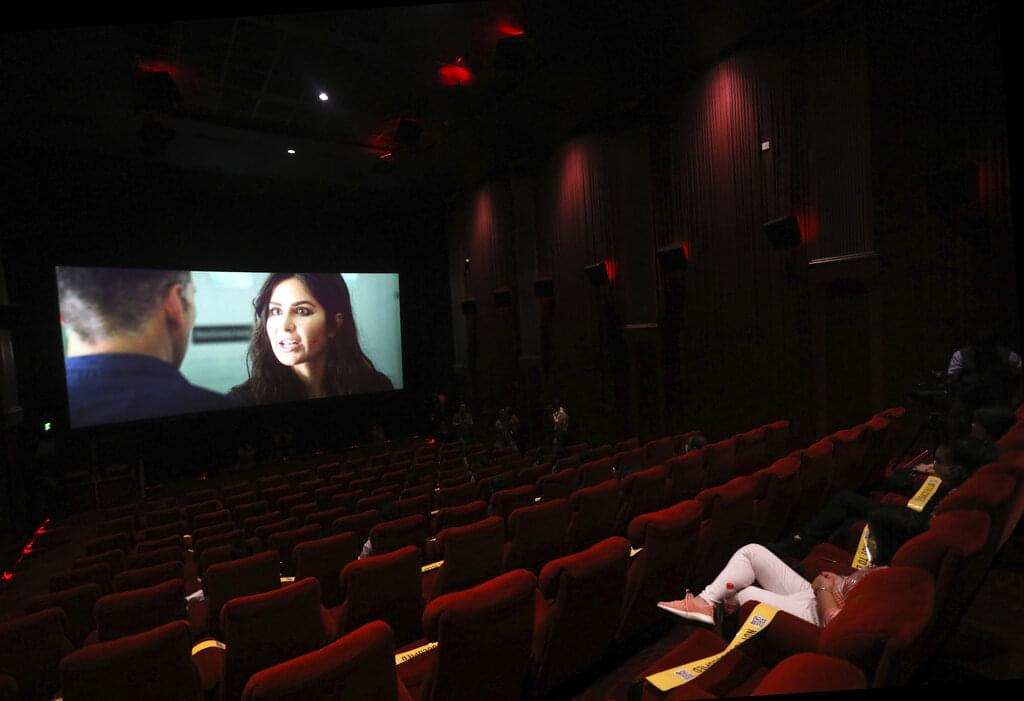 Virus Outbreak India Cinemas Reopen