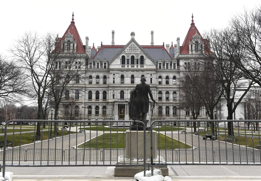 Heightened security around NY Capitol