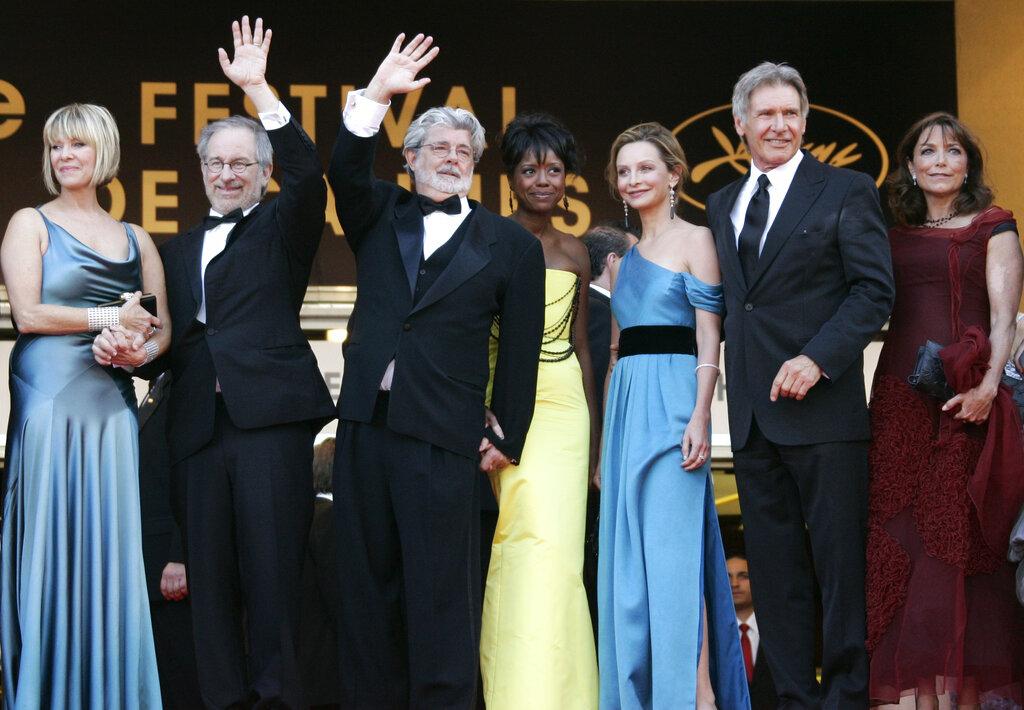 Steven Spielberg, George Lucas, Harrison Ford, Melody Hobson, Calista Flockhart, Keren Allen