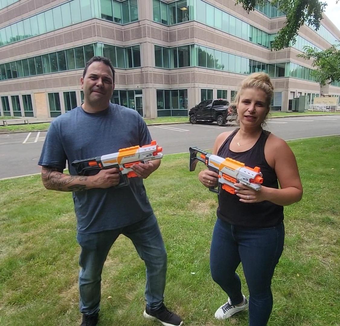 Anna & Raven Try Skeet Shooting!