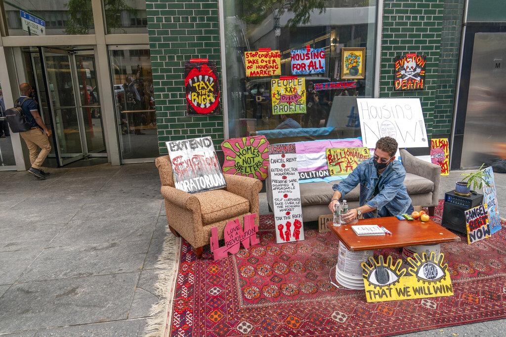 Virus Outbreak New York Housing Demonstration