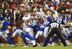 New York Giants kicker Graham Gano (5)